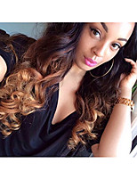 Uniwigs 100% Brazilian Remy Human Hair Weft Ombre Color Body Wave Weave Extensions 18 Inches One Bundle T1b/4/27 (18)