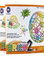 200Pieces/Box Soft Toy Building Blocks Student Toys 3-100 Years Deformation Souptoys DIY Kindergarten Children Educational