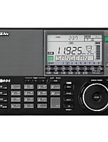 ATS-909X Rádio portátil Radio FM Alto Falante Embutido Relogio Despertador Preto