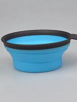 Dog Bowls & Water Bottles Pet Bowls & Feeding Portable Foldable Blushing Pink Blue Green Red Yellow