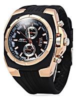 Hombre Reloj Deportivo Reloj de Vestir Reloj de Moda Chino Cuarzo Caucho Banda Cool Casual Negro