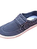 Hombre Zapatos de taco bajo y Slip-Ons Confort Suelas con luz PU Primavera Otoño Casual Tacón Plano Gris Amarillo Rojo AzulMenos de 2'5