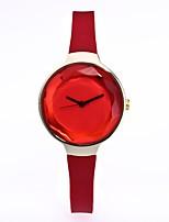 Mujer Reloj de Vestir Reloj de Moda Reloj de Pulsera Chino Cuarzo Silicona Banda Cosecha Casual Elegantes Negro Blanco Azul Rojo Verde