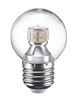 3W Lâmpada Redonda LED G45 24 SMD 2835 250 lm Branco Quente Branco Frio 220 V 1 pç E27