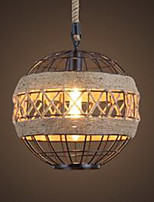 Retro personalidad loft industrial viento cena lámpara americana creativo ático sala de estar hierro arte globo lámpara de cáñamo