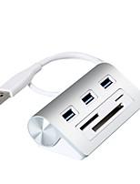 Rocketek USB HUB High Speed Aluminum Usb 3.0 Hubs 3 Port Power Interface TF SD CF Card Reader for iMac MacBook Air Pro Laptop PC USB3-3P-C-A