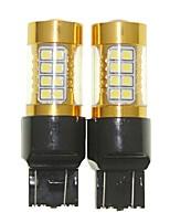 Sencart 2pcs 7443 W21 21W W3X16Q Flashing Bulb Led Car Tail Turn Reverse Light Bulb Lamps(White/Red/Blue/Warm White) (DC/AC9-16V)
