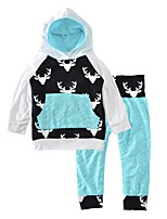 Boys' Print Sets Cotton Spring Fall Long Sleeve Clothing Set Deer Head Arrow Baby Boys 2pcs Outfits