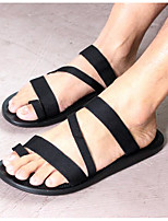 Men's Sandals Comfort Summer Denim Casual Black Flat