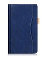 Padrão de cor sólida caso de couro pu com corda manual para lenovo tab 4 8 (tb-8504fn) tablet de 8,0 polegadas