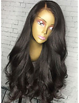 Body Wave Natural Black Human Hair Wigs Glueless Lace Front Wigs With Baby Hair For Black Women