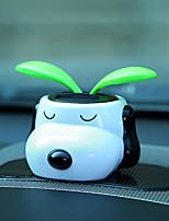 DIY Automotive  Ornaments   Solar Flower Shook His Head Cartoon Doll Car Pendant & Ornaments  ABS Resin