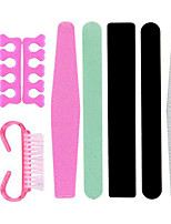 9pcs Manicure Tools Set Nail File Push Rod Fork Dead Skin Polishing