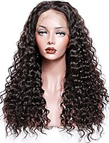 Premier® Brazilian Human Hair Lace Front Wigs Long Curly Wigs With Baby Hair Bleached Knots Natural Hairline For Women