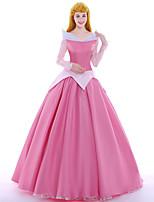 Costumes de Cosplay Costume de Soirée Bal Masqué Princesse Reine Cosplay de Film Rose Robe Jupon Perruque Halloween Noël Carnaval Nouvel