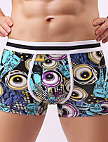 Men's Sexy Print Boxers Underwear,Cotton