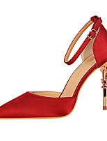 Feminino Saltos Sapatos formais Conforto Materiais Customizados Verão Outono Casamento Festas & Noite Social Caminhada PresilhaSalto