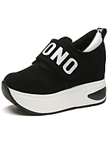 Women's Sneakers Comfort Fabric Spring Fall Casual Flat Heel Ruby Gray Black Flat