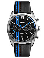 Skmei® Men's Dress Leather Strap Quartz Wrist Watch 30m Waterproof Assorted Colors