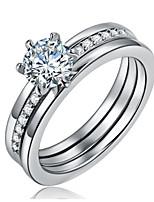 Settings Ring Band Ring 3 Colors Luxury Women's Euramerican Fashion  Birthday Wedding Movie Gift Jewelry