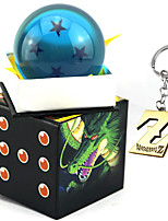 Inspired by Dragon Ball Son Goku Anime Cosplay Crystal Blue Ball 7.5cm And Key Buck(2PCS)