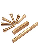 Universal Fit Brass Nut/ Saddle End Pins Set For Acoustic Guitar