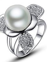 Settings Ring Luxury Euramerican Fashion Flower Pearl Style Birthday Wedding Movie Gift Jewelry