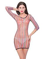 Costumes Vêtement de nuit Femme,Sexy Jacquard Nylon Spandex