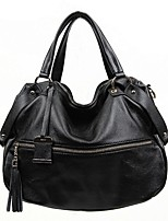 Women Bags All Seasons Cowhide Tote with for Casual Black