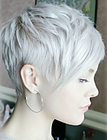 Spring-Summer New Cool Short Straight Hair  Human Hair Wigs  For Women