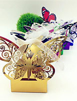 50pcs Romantic Butterfly Laser Cut Wedding Box Candy Box Gift Boxes Party  Wedding Event Party Decoration Supplies.