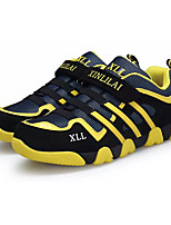 Boys' Sneakers Light Soles Spring Fall PU Casual Lace-up Flat Heel Yellow Ruby Green Flat