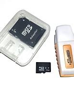 4gb tarjeta de memoria microdhc tf con lector de tarjetas usb y sdhc adaptador sd