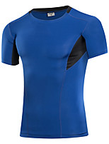 Herrn Funktionsunterhemd Kurzarm Atmungsaktivität Dehnbar Schweißableitend T-shirt Sweatshirt Trainingsanzug Oberteile für Rennen