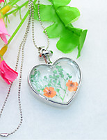 Women's Pendant Necklaces Heart Alloy Cute Style Floral Jewelry For Wedding Party Birthday Graduation Gift Daily