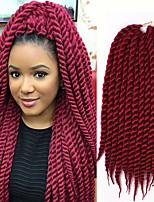 synthetic kanekalon hair for braid 2x havana mambo twists synthetic havana mambo twist crochet Bouncy Curl hair company 6-8pcs/head