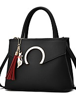 Women Bags Spring/Fall All Seasons PU Shoulder Bag with Tassel Ruffles Zipper for Wedding Event/Party Casual Formal Outdoor Office &