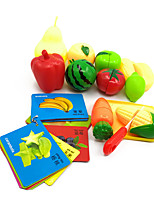 Global Drone 326-B12 14pcs Educational Classic Children Fruit Vegetable Cutting Food Kitchen Pretend Play Set