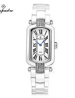 Жен. Модные часы Swiss Кварцевый Защита от влаги Керамика Группа Повседневная Элегантные часы Белый