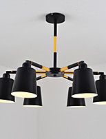 60w подвесной светильник традиционный / классический рисунок для мини-стиля дерева / бамбука комнаты / спальни / столовой / исследования