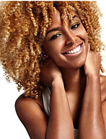 Short Kinky Curly Wigs For Black White Women Naturally Synthetic African Amercian Blond Mix White Hair Wigs