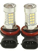 Sencart 2pcs h8 pgj19-1 lampe anti-brouillard lampe à phare lampes (blanc / rouge / bleu / blanc chaud) (dc / ac9-32v)