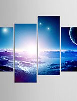 Stretched Canvas Print Abstract,Four Panels Canvas Any Shape Print Wall Decor For Home Decoration