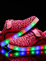 kids boys Girls' Sneakers Light Up Shoes Comfort Tulle Spring Summer Fall Winter Casual Outdoor Walking Light Up Shoes Comfort LED  Low Heel