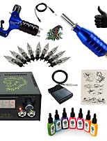 Basekey High Born Tattoo Kit H015-R2 1 Rotary Machine With 7 Inks Power Supply 10 PCS Needles