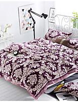 Vellón de Coral Floral Combinación Poliéster/algodón mantas
