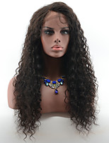 Peruvian Virgin Hair Deep Curly Glueless Lace Front Human Hair Wigs for Black Women Natural Hairline Lace Wigs With Baby Hair Natural Black Color