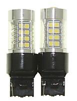 Sencart 2pcs 7440 w21w w3x16d ampoule conduit la queue de la voiture tournez les ampoules inverses (blanc / rouge / bleu / blanc chaud)