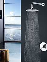 Contemporary Modern Style Wall Mounted Rain Shower with  Ceramic Valve  Single Handle Chrome Finish Shower Faucet