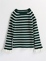 Girls' Striped Blouse,Cotton Spring Fall Long Sleeve